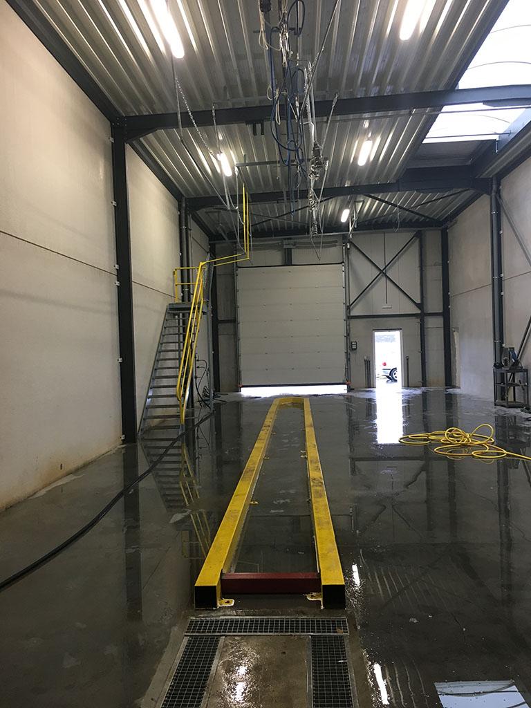 Piste de lavage - TEC Concept Ghislenghien Tank cleaning specialist Lavage de camion citerne