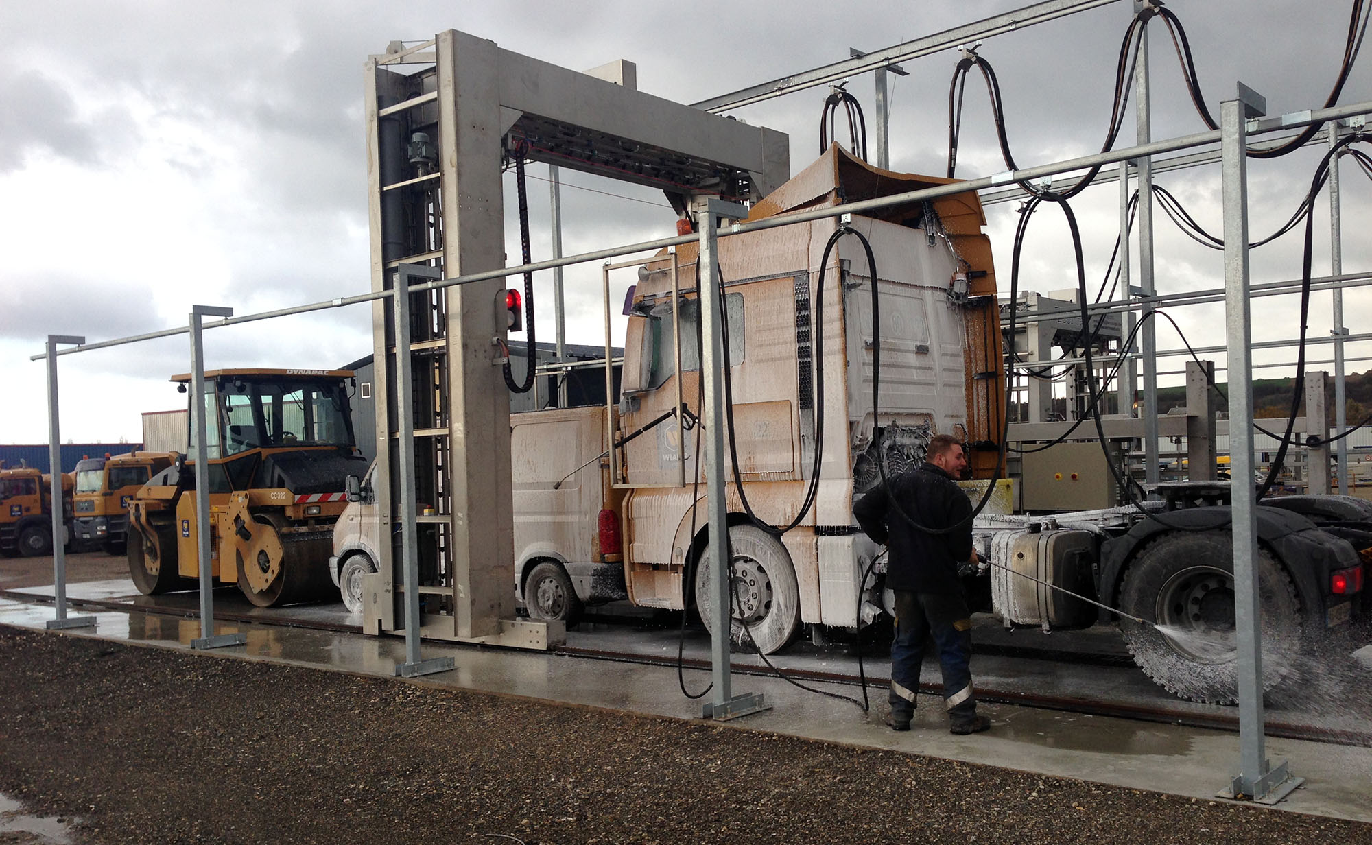 Station de lavage extérieur camion poids lourd VicOsc Mobile 1 - TEC Concept Ghislenghien