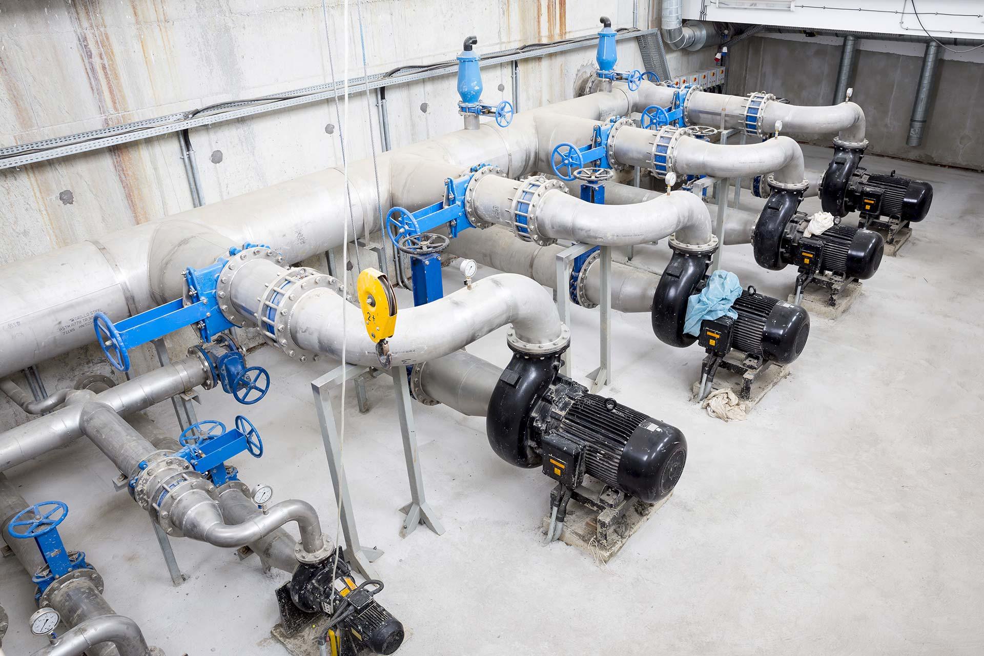 Station de lavage pompe et vannes